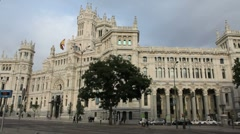 Madrid post office 1a.MOV Stock Footage