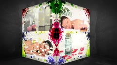 3D Animation-Cube of Wellness Treatments Stock Footage