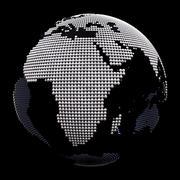 Chrome globe 3D Model