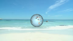 Stock Video Footage of 3D Animation of Beach Holiday