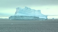 Stock Video Footage of ingle iceberg in long shot, antarctica