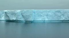 Tabular iceberg track Stock Footage