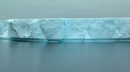 Stock Video Footage of tabular iceberg track