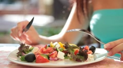 Greek salad - stock footage