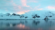 Stock Video Footage of antarctic peninsula at sunrise