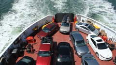 Car ferry. Stock Footage