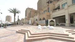 DOHA - THE PEARL - STEADYCAM BAY VIEW - stock footage