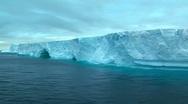 Track along tabular iceberg Stock Footage