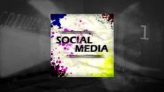3D Animation of Socialmedia Stock Footage