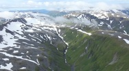 Aerial view of mountains in Alaska (HD) k Stock Footage