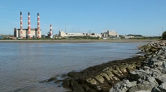 Power plant. Wide angle. Stock Footage