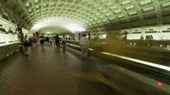 Washington DC Metro Rail / Subway Stock Footage