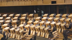 Scottish Parliament Inside The Chamber Stock Footage