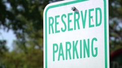 Reserved Parking Sign-Pond5 Settings Stock Footage