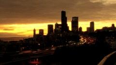 Seattle Skyscraper Stock Footage