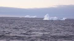 Iceberg in the antarctic ocean Stock Footage