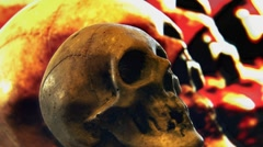 Feedback Skull of Insanity Stock Footage