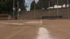 3rd Base at the Baseball Field To Home Stock Footage