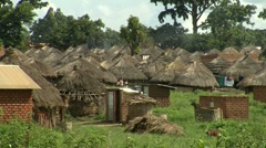 african village huts - stock footage