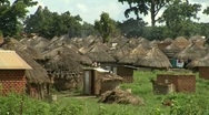 African village huts Stock Footage