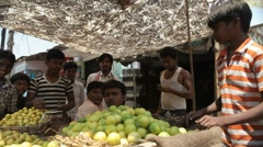 India Fruit Stall MS Stock Footage