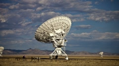 Very Large Array - Time Lapse - stock footage
