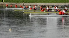 Check start rowing Stock Footage