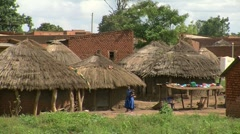 african village - stock footage