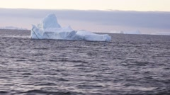 Iceberg in the antarctic ocean Stock Footage