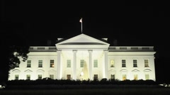The White House at Night Stock Footage