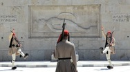 Stock Video Footage of Evzone Ceremonial guards, Athens, Greece, Europe