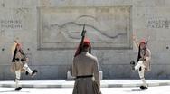 Evzone Ceremonial guards, Athens, Greece, Europe Stock Footage
