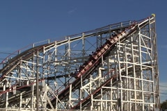 Roller coaster 2 Stock Footage