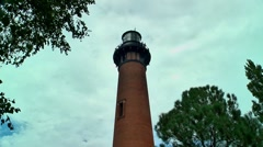 Currituck lighthouse Stock Footage