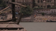 Ganges River Bank WS - stock footage