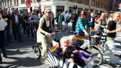 Socialist People's Party at the gay parade 2011 Stock Footage