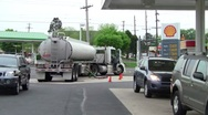 Gas tanker1 Stock Footage