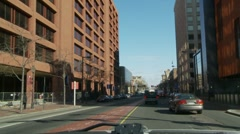 Downtown Philly traffic Stock Footage