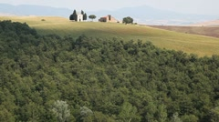 Italian landscape with countryside and hills in Tuscany Stock Footage