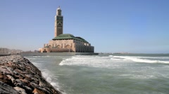 Hassan II Mosque, Casablanca, Morocco, North Africa - stock footage