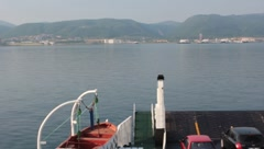 ferry docks,sea, - stock footage