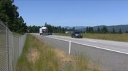 Semi truck on the highway Stock Footage