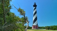 Cape Hatteras lighthouse 02 Stock Footage