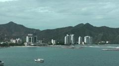 Skyline of Santa Marta port, Colombia Stock Footage