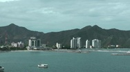 Stock Video Footage of Skyline of Santa Marta port, Colombia