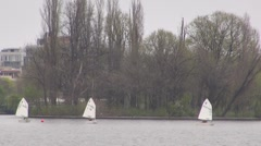 Sailing Boat, Park , Recreation, Water Sport - stock footage