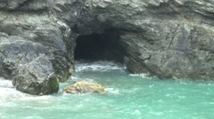 Cave and Seawater Stock Footage