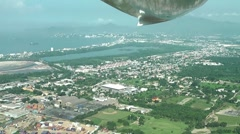 Arial view of Manzanillo city port, Mexico Stock Footage