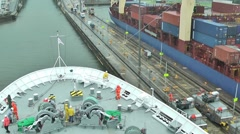 Passing thru Panama channel Stock Footage