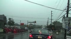 Rain drive 11b Stock Footage